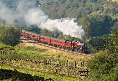 The Winter Cumbrian Mountain Express - steam across the Settle &...